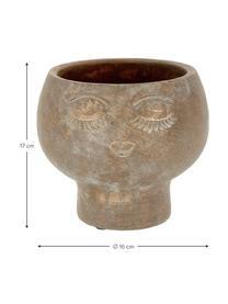 Osłonka na doniczkę z cementu Consi, Cement powlekany, Odcienie mosiądzu, Ø 16 x W 17 cm