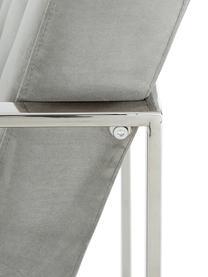 Sedia a poltrona in velluto verde Manhattan, Rivestimento: velluto (poliestere) La c, Struttura: metallo zincato, Velluto grigio, Larg. 70 x Prof. 72 cm