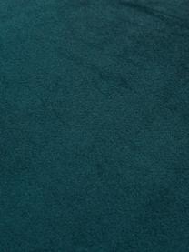 Coussin en velours 45x45 bleu doré Whety, Bleu pétrole, couleur dorée