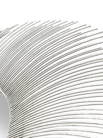 Okrągłe lustro ścienne Lilly, Odcienie srebrnego, Ø 90 cm
