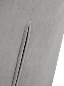Chaise velours rembourrée Tess, Velours gris, pieds or