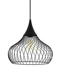 Lampa wisząca z metalu Staverton, Czarny, Ø 37 x W 35 cm