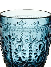 Pohár na vodu s kvetinovým reliéfom Chambord, 6 ks, Modrá