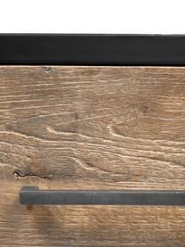 Regal Henry aus Metall und Holz mit Schubladen, Gestell: Metall, pulverbeschichtet, Braun, Schwarz, 64 x 183 cm