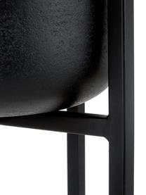 Grote plantenpot Minell van metaal, Frame: gecoat metaal, Zwart, Ø 28 x H 50 cm
