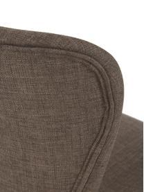 Polsterstühle Batilda in Khaki, 2 Stück, Bezug: Polyester 25.000 Scheuert, Beine: Eichenholz, massiv, klarl, Webstoff Khaki, Eichenholz, B 47 x T 53 cm