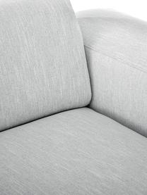 Sofa Melva (3-Sitzer) in Hellgrau, Bezug: Polyester Der hochwertige, Gestell: Massives Kiefernholz, Spa, Füße: Kiefernholz, Webstoff Hellgrau, B 240 x T 101 cm