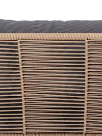 Poltrona da giardino con intreccio Mundo, Struttura: metallo verniciato a polv, Seduta: polietilene, Rivestimento: poliestere, Marrone, Larg. 87 x Prof. 74 cm