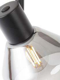 Deckenstrahler Reflekt, Lampenschirm: Glas, Schwarz, Grau, transparent, 43 x 20 cm