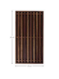 Acaciahouten snijplank Wood Light, L 43 x B 23 cm, Acaciahout, Bruin, 23 x 43 cm