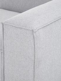 Modulaire hoekbank in lichtgrijs, Bekleding: 100% polyester De slijtva, Frame: massief grenenhout, multi, Poten: kunststof De poten bevind, Geweven stof lichtgrijs, B 327 x D 180 cm