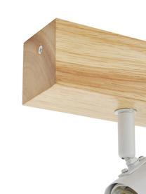 Kleiner Deckenstrahler Townshend aus Holz, Baldachin: Holz, Weiß, Holz, 30 x 13 cm