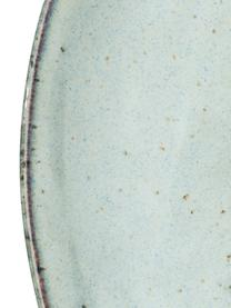 Frühstücksteller Rustic, 4 Stück, Porzellan, Hellgrau, Grün, Ø 20 cm