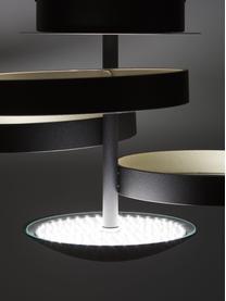 Kleine Dimmbare LED-Deckenleuchte Gromola, Lampenschirm: Aluminium, lackiert, Baldachin: Aluminium, lackiert, Schwarz, Ø 54 x H 33 cm