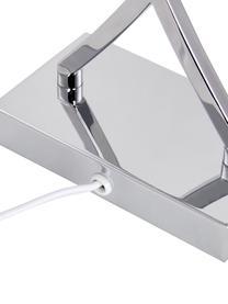 Lampa stołowa Vanessa, Podstawa lampy: chrom Klosz: biały Kabel: biały, S 27 x W 52 cm