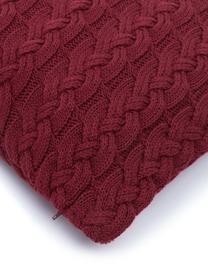 Poszewka na poduszkę z dzianiny Caleb, 100% bawełna, Ciemny czerwony, S 40 x D 40 cm
