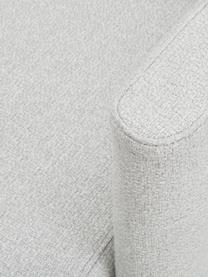 Bouclé-Loungesessel Coco in Hellgrau mit Holz-Füßen, Bezug: Bouclé (100% Polyester) D, Füße: Massives Buchenholz, lack, Bouclé Hellgrau, B 92 x T 79 cm