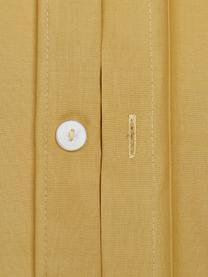 Pościel z perkalu Elsie, Żółty, 240 x 220 cm + 2 poduszki 80 x 80 cm