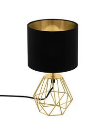 Lampada da tavolo nera/dorata Phil, Base della lampada: metallo ottonato, Nero, oro, Ø 17 x Alt. 31 cm