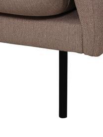 Ecksofa Moby in Taupe mit Metall-Füßen, Bezug: Polyester Der hochwertige, Gestell: Massives Kiefernholz, Füße: Metall, pulverbeschichtet, Webstoff Taupe, B 280 x T 160 cm