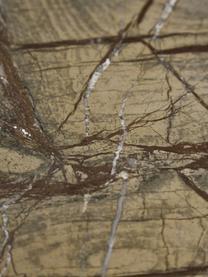 Marmeren stellingkast Jungle, Frame: gecoat metaal, Goudkleurig, bruin, 75 x 180 cm