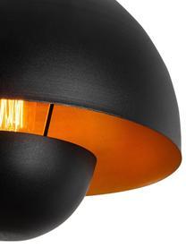 Hanglamp Yanigara in industrieel design, Lampenkap: gecoat metaal, Baldakijn: gecoat metaal, Zwart, Ø 30 x H 86 cm