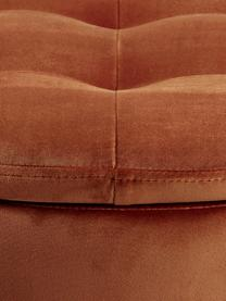Pouf contenitore in velluto Retina, Rivestimento: velluto di poliestere 25., Struttura: materiale sintetico, Rame, Ø 60 x Alt. 35 cm
