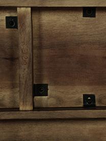 Konsola z litego drewna mangowego Oscar, Lite drewno mangowe, lakierowane, Ciemnybrązowy, S 110 x W 75 cm