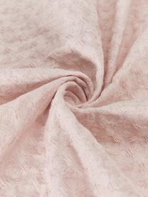 Waffelpiqué-Plaid Gopher in Rosa mit Quasten, 100% Baumwolle, Hellrosa, 125 x 150 cm