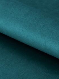 Samt-Polsterstuhl Emilia mit Armlehne, Bezug: Polyestersamt Der hochwer, Beine: Metall, lackiert, Samt Blau, Beine Schwarz, B 57 x T 59 cm