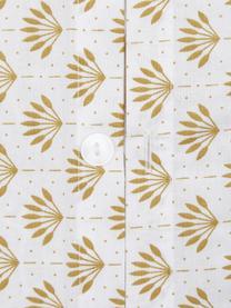 Gemusterte Wendebettwäsche Tiara aus Bio-Baumwolle, Webart: Renforcé Fadendichte 144 , Gelb, Weiß, 240 x 220 cm + 2 Kissen 80 x 80 cm