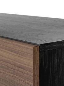 Credenza con finitura in quercia Youth, Piedini: metallo, verniciato a pol, Maniglie: metallo, Legno di noce, Larg. 180 x Alt. 70 cm