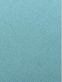 Kissen Prague in Türkis mit Fransenabschluss, mit Inlett, Vorderseite: Baumwolle, grob gewebt, Rückseite: Baumwolle, Türkis, 40 x 40 cm