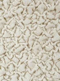 Pokrowiec na sofę narożną Roc, 55% poliester, 35% bawełna, 10% elastomer, Odcienie kremowego, S 360 x G 180 cm
