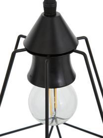 Pendelleuchte Wire im Industrial-Style, Baldachin: Metall, Lampenschirm: Metall, Baldachin: SchwarzLampenschirm: SchwarzKabel: Schwarz, 75 x 25 cm