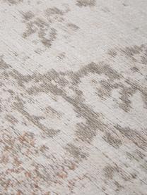 Vintage Chenilleteppich Medaillon, Vorderseite: 100% Chenillegarn (Baumwo, Webart: Jacquard, Rückseite: Chenillegarn, latexbeschi, Hellgrau, Braun, B 230 x L 330 cm (Größe L)