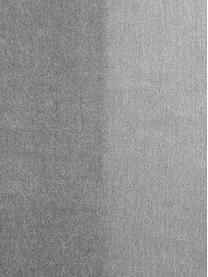 XL Samt-Hocker Harper, Bezug: Baumwollsamt, Fuß: Metall, pulverbeschichtet, Hellgrau, Goldfarben, 64 x 44 cm