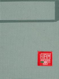 Gartenliege Amigo mit Armlehne, Gestell: Aluminium, Bezug: Kunststoffgewebe (wetterf, Armlehnen: Robinienholz, naturbelass, Salbei, Robinienholz, 69 x 190 cm