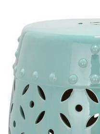 Outdoor-Hocker / Beistelltisch Philine, Keramik, glasiert, Türkis, Ø 33 x H 47 cm