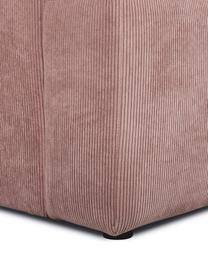 Divano 3 posti in velluto a coste rosa Melva, Rivestimento: velluto a coste (92% poli, Struttura: legno di pino massiccio, , Piedini: legno di pino I piedini s, Velluto a coste rosa, Larg. 240 x Prof. 101 cm