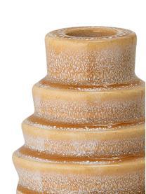 Kerzenhalter Emie aus Steingut, Steingut, Orange, Gelb, 7 x 9 cm