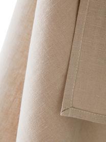 Ręcznik kuchenny z lnu Hermia, 57% len, 43% bawełna, Beżowy, S 50 x D 70 cm