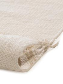 Handgewebter Kelimteppich Neo aus Wolle, 100% Wolle, Creme, Schwarz, B 200 x L 300 cm (Größe L)