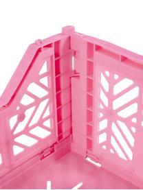 Cesto medio pieghevole e impilabile Midi, Materiale sintetico riciclato, Rosa, Larg. 40 x Alt. 14 cm