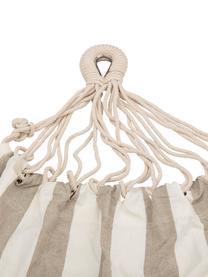 Hamak z bawełny Lazy, Bawełna, Biały, beżowy, S 100 x D 270 cm
