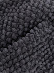 Kissenhülle Indi mit strukturierter Oberfläche in Dunkelgrau, 100% Baumwolle, Grau, 30 x 50 cm