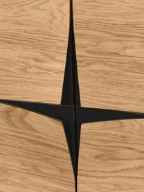 Vysoká skříňka zdubové dýhy Filip, Dub, černá