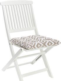 Sitzkissen Miami in Taupe/Weiß, Bezug: 100% Baumwolle, Beige, 40 x 40 cm