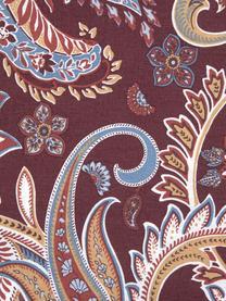 Baumwoll-Bettwäsche Liana in Bordeaux mit Paisley-Muster, Webart: Renforcé Fadendichte 144 , Bordeaux, 135 x 200 cm + 1 Kissen 80 x 80 cm
