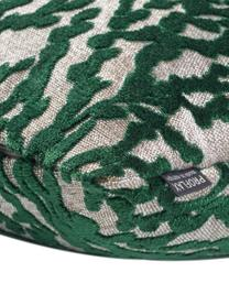 Povlak na polštář se strukturálním vzorem Elio, Zelená, béžová
